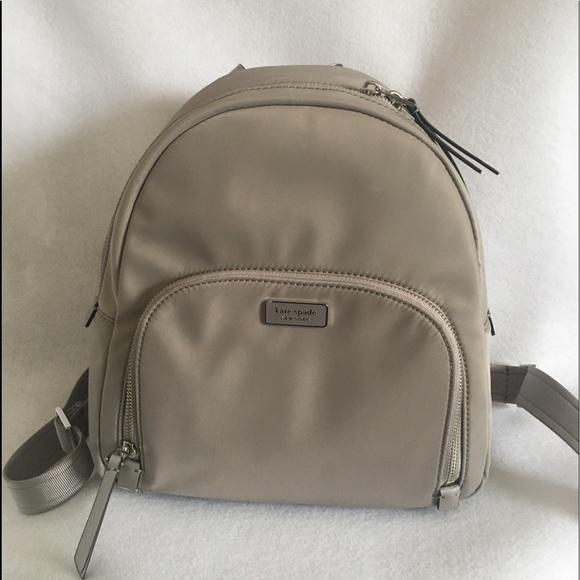 Kate Spade Dawn Medium Backpack Gray